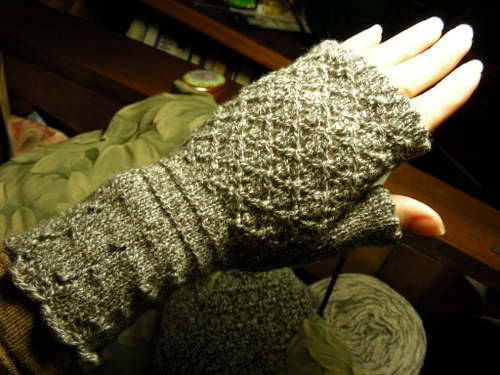 Wine and Roses Mitts
