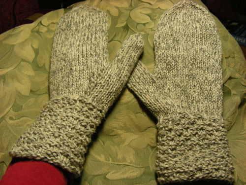Yak/merino mittens