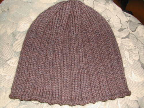 Brown ribbed hat