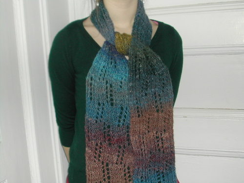 Noro Silk Garden lace scarf