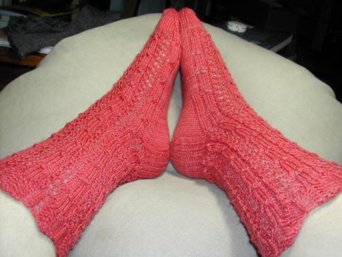Knitting Pattern For Fancy Socks : Wee things: Poppysocks